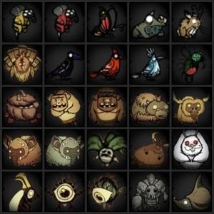 ตาราง สัตว์ภายในเกมส์แบบคราวๆ